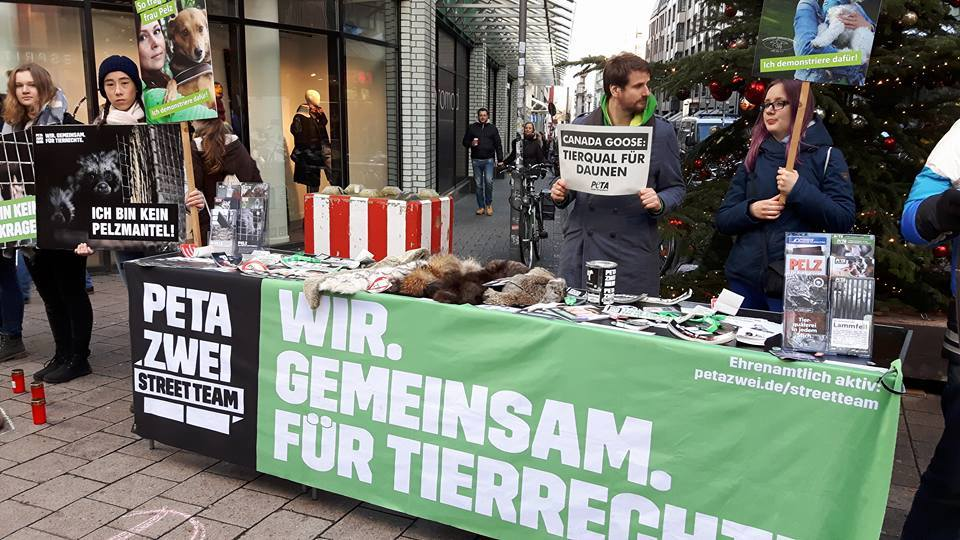 anti fur protest in hamburg