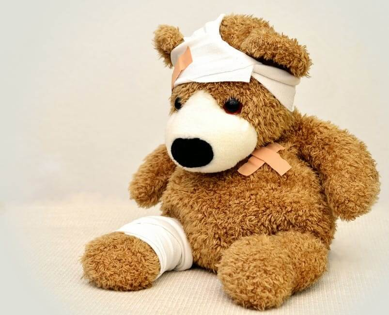 teddy bear hurt